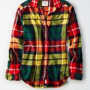 American eagle boyfriend's  flannel
